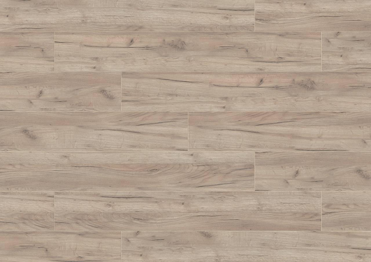 K002 Grey Craft Oak в бежови и сиви нюанси, и текстурата UW на използвана дървесина подчертават дървесния фладер.