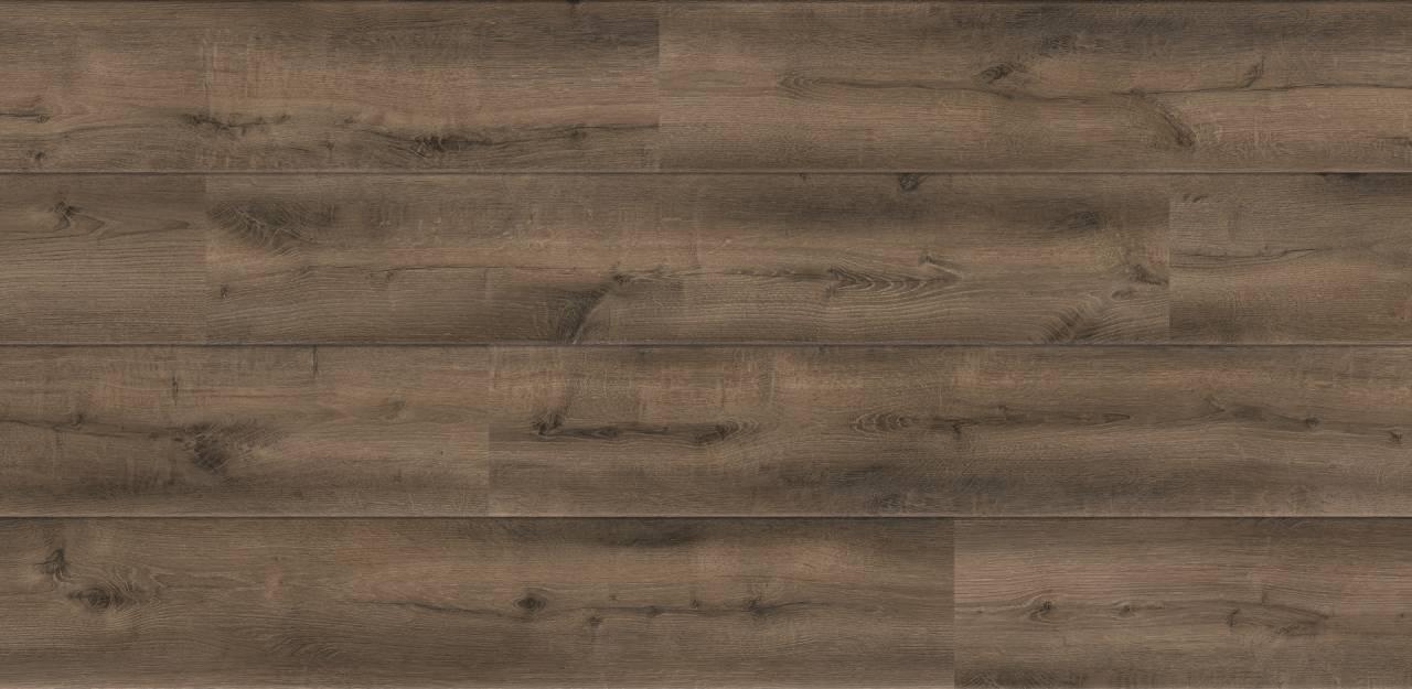 Декорът O351 Oak Smoke на цяла дъска съчетава финеса на дървесния фладер с опушени участъци в сиви и кафяви нюанси.