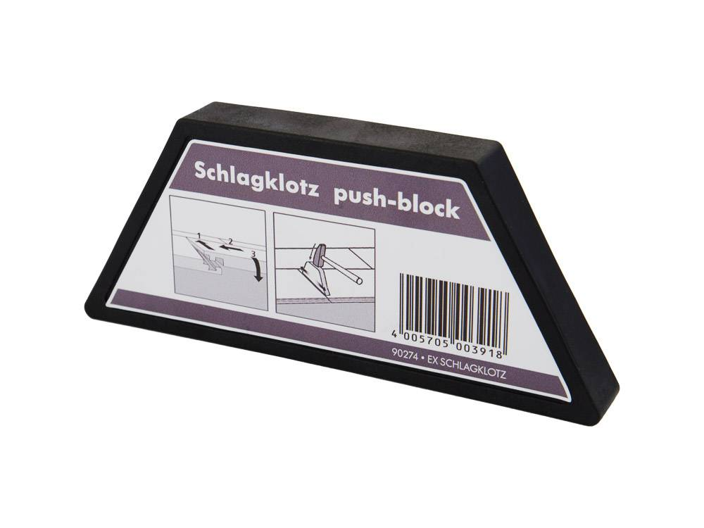 Push-block for vinyl flooring