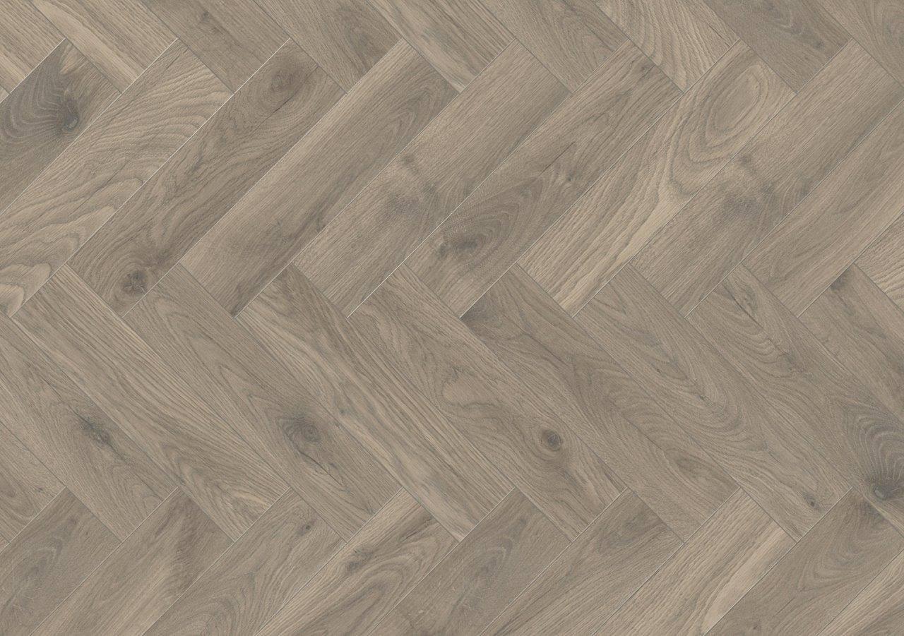 Ламиниран под K287 Steelworks Oak от колекцията Krono Original® X-Way с размери на ламелата 1:4