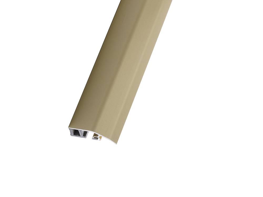 Алуминиева рампова лайсна, полага се лесно с клик-профилна система и служи като декоративен преходен елемент.