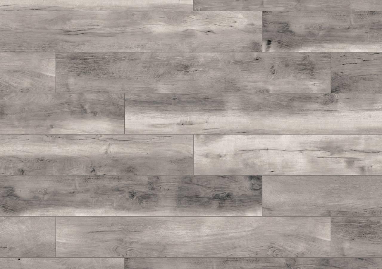 Неутралната сива гама на Blackwater Oak внася градско усещане и сложна несиметричност.